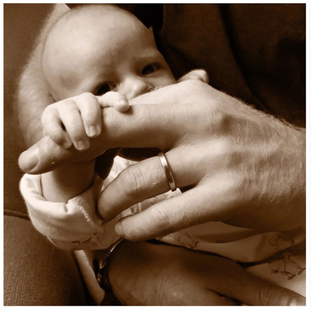 Baby Archie Held by Prince Harry
