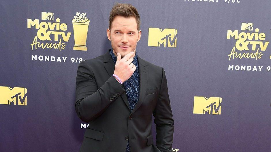 Chris Pratt on the 2018 MTV Movie And TV Awards Red Carpet