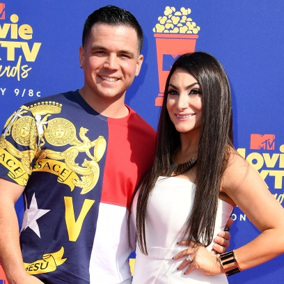 Deena Cortese and Chris Buckner at the MTV Movie & TV Awards Red Carpet