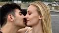 Joe Jonas and Sophie Turner Kissing
