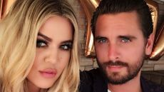 Khloe Kardashian and Scott Disick pose for a Selfie