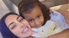 Kim Kardashian and North West Hug