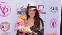 Lisa Vanderpump Holding Her Dog Giggy