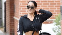 Nikki Bella in All-Black Workout Clothes