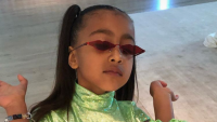 North West Acting Sassy in Sunglasess