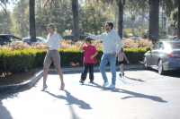 Scott Disick, Sofia Richie, Mason Disick and Penelope Disick Walking