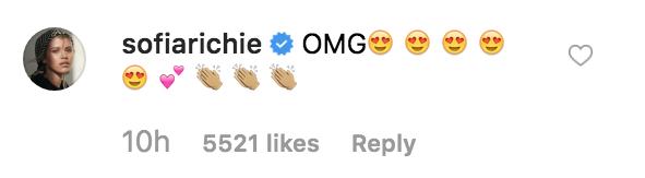 Sofia Richie Instagram Comment