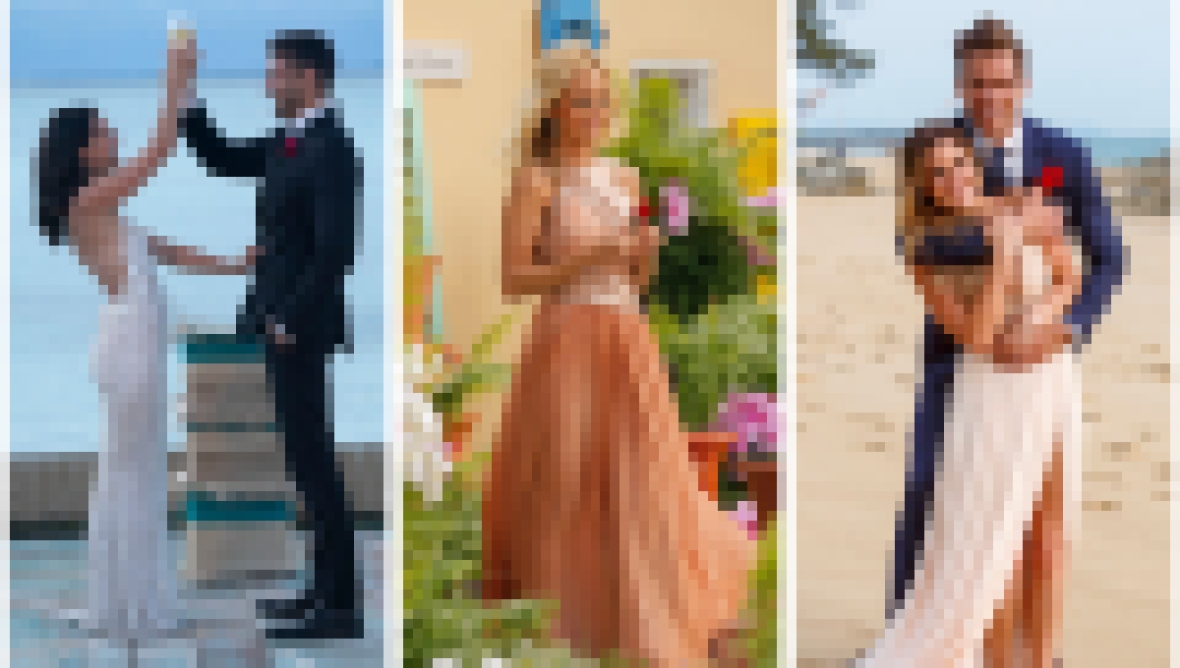 Becca Kufrin Garrett Yrigoyen Emily Maynard Jojo fletcher jordan rodgers Bachelorette finale dresses