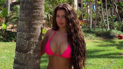 Brielle Biermann Hot Pink Bikini