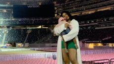 Cardi B on Stage With Baby Kulture