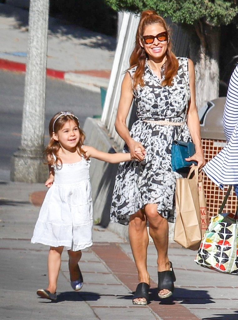Eva Mendes and Daughter Esmeralda Gosling Go Shopping in L.A.