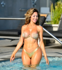 Farrah Abraham in Barely There Gold Bikini