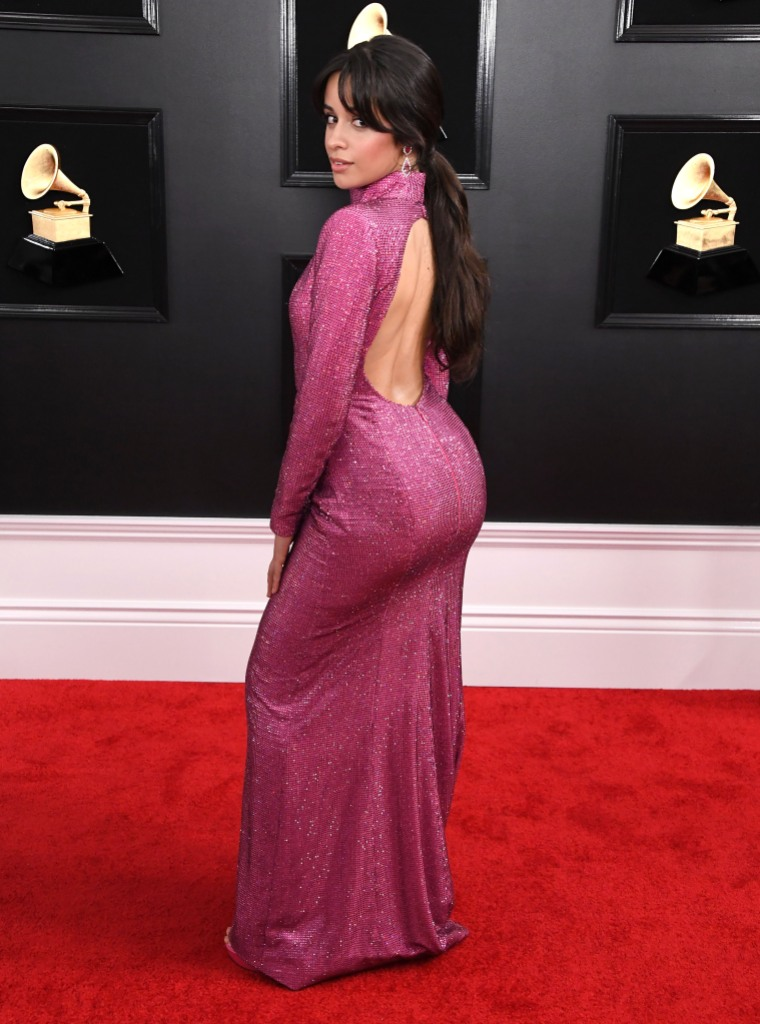 Camila Cabello Pink Backless Dress Grammys