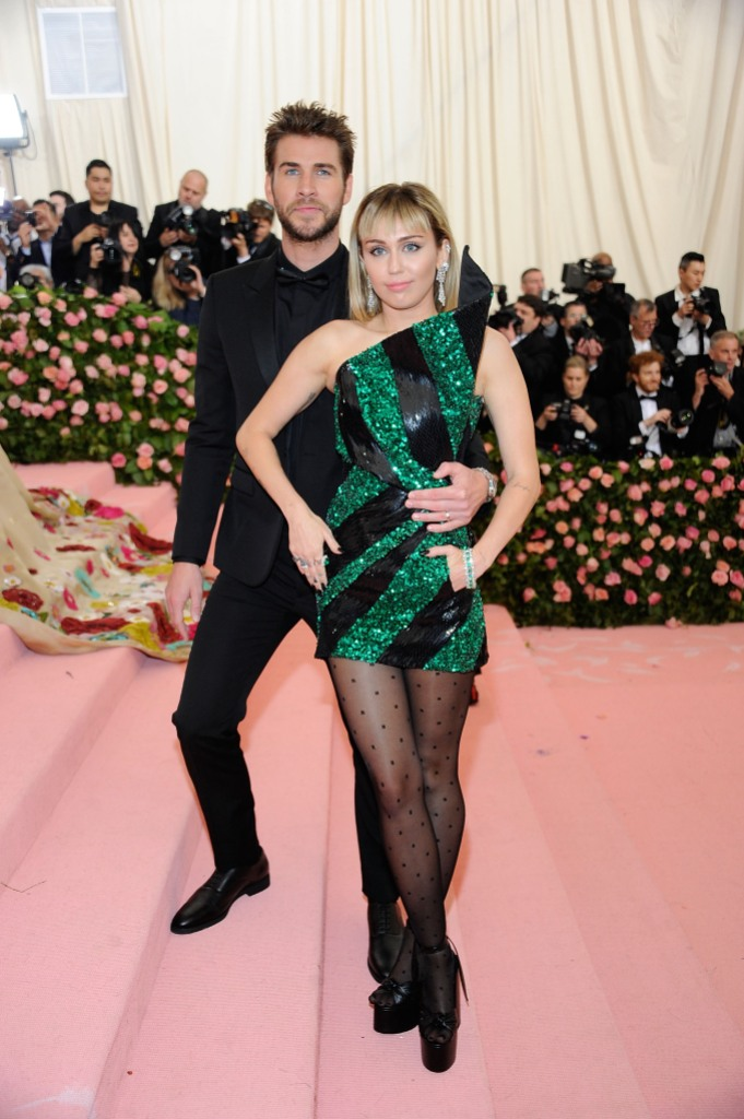 Miley Cyrus and Liam Hemsworth Met Gala 2019 Red Carpet