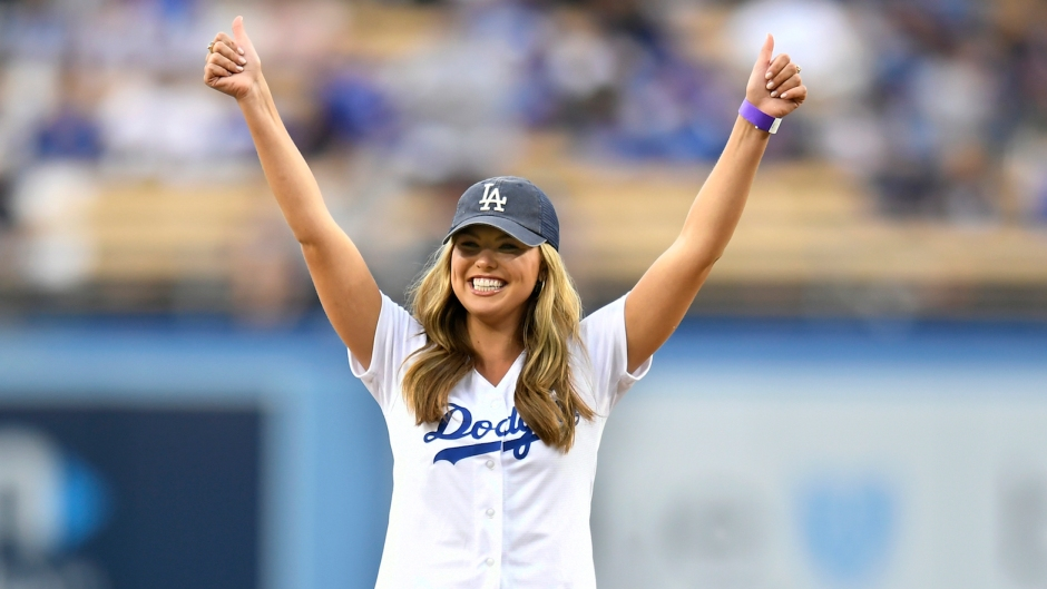 Hannah Brown Moving to Los Angeles Dodgers First Pitch