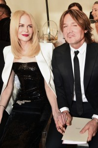 Nicole Kidman in a White Jacket Stands With Keith Urban in a Black Tux During Paris Fashion Week