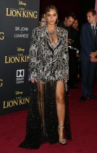 Beyonce Braids Suit Dress Lion King Premiere