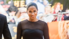 Meghan Markle Black Sheer Dress Lion King Premiere British Vogue Editor's Letter