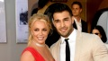 Britney Spears and Sam Asghari Engaged Once Upon a Time in Hollywood Premiere