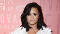 Demi Lovato Wears Hoop Earrings Scooter Braun and Taylor Swift Drama