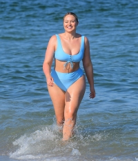 Iskra Lawrence 4th of July Bikini Beach