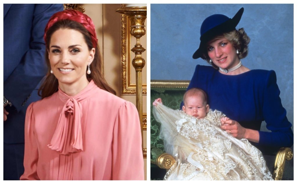 Kate Middleton Princess Diana Collingwood Pearl earrings archie christening