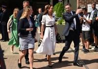 Kate Middleton White Dress Wimbledon Tennis Day 2