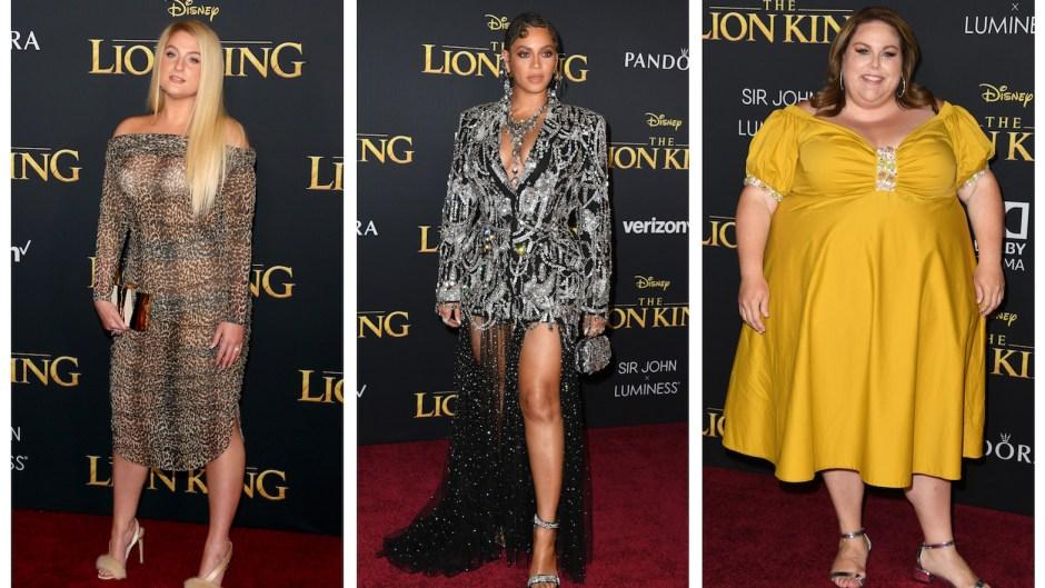Meghan Trainor Chrissy Metz Beyonce Lion King Premiere