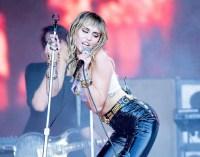Miley Cyrus Almost Flashes Crowd Glatsonbury