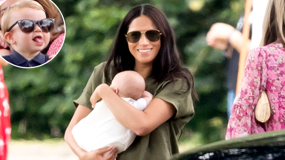 Prince-Louis-Duchess-Meghan-funny-face-polo-game-archie