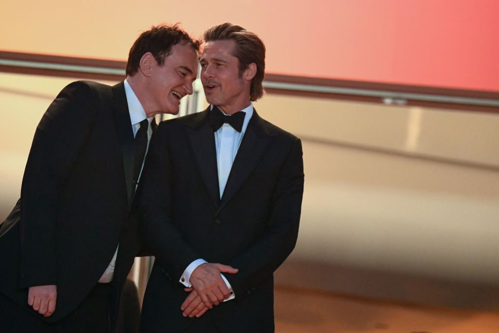 Quentin Tarantino and Brad Pitt