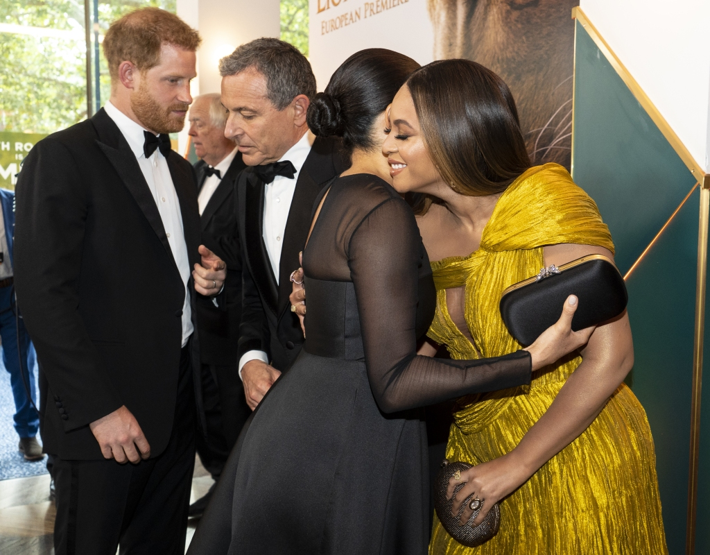 Meghan Markle, Beyonce and Prince Harry at 'The Lion King' Premiere