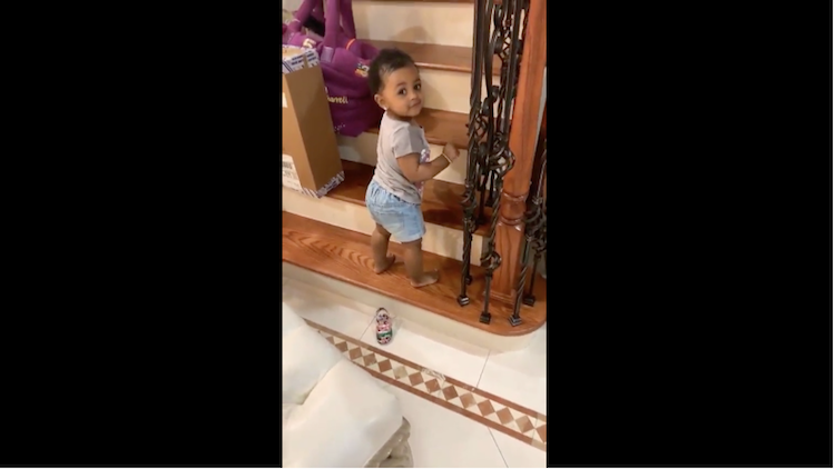 Cardi B's Daughter Kulture Lives Her Best Life in Adorable Video While Climbing Stairs — Watch!