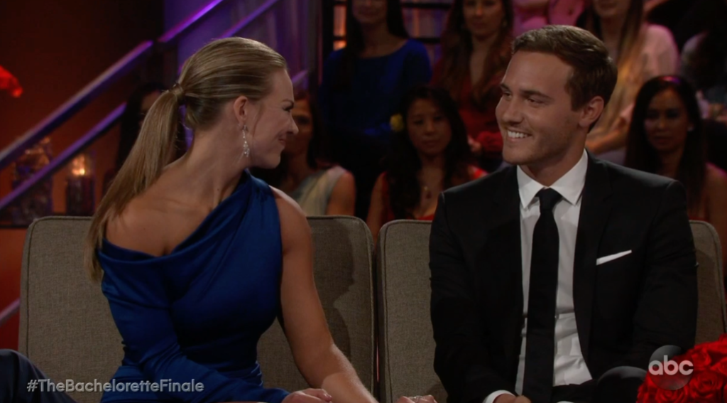 Peter and Hannah on The Bachelorette