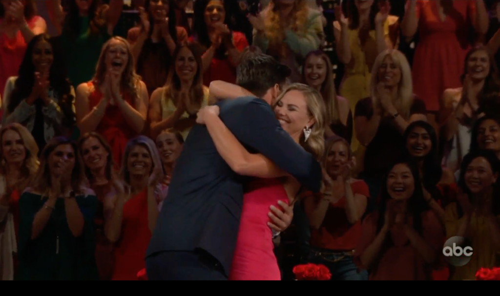 Hannah Brown and Tyler Hugging