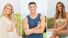 Side-by-Side Photos of Demi Burnett, Blake Hortsmann and Tayshia Adams on Bachelor in Paradise