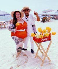Tess Holliday in Orange Bikini