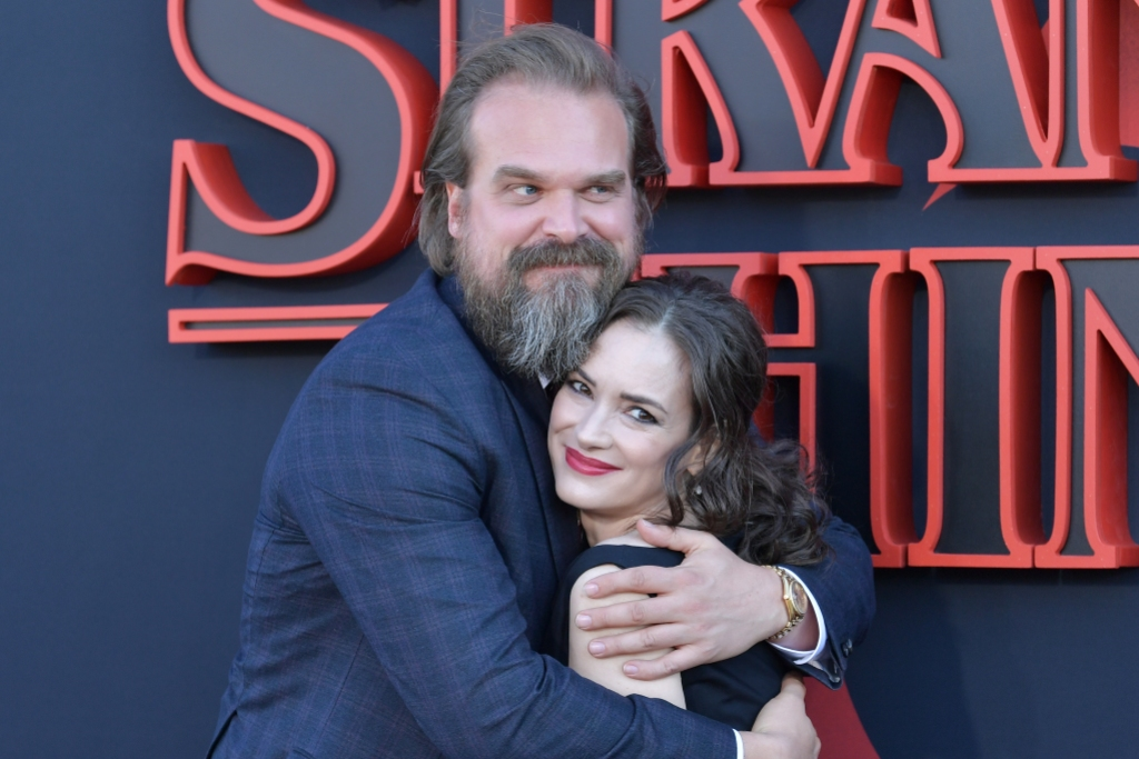 Winona Ryder and David Harbour