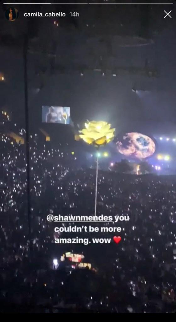 Camila Cabello Films Shawn Mendes Concert