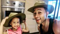 John Legend and Luna Stephens Smile in Big Hats Dance to Mariah Carey
