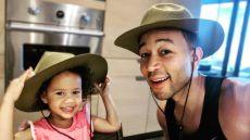 John Legend and Luna Stephens Smile in Big Hats Dance to Mariah Carey