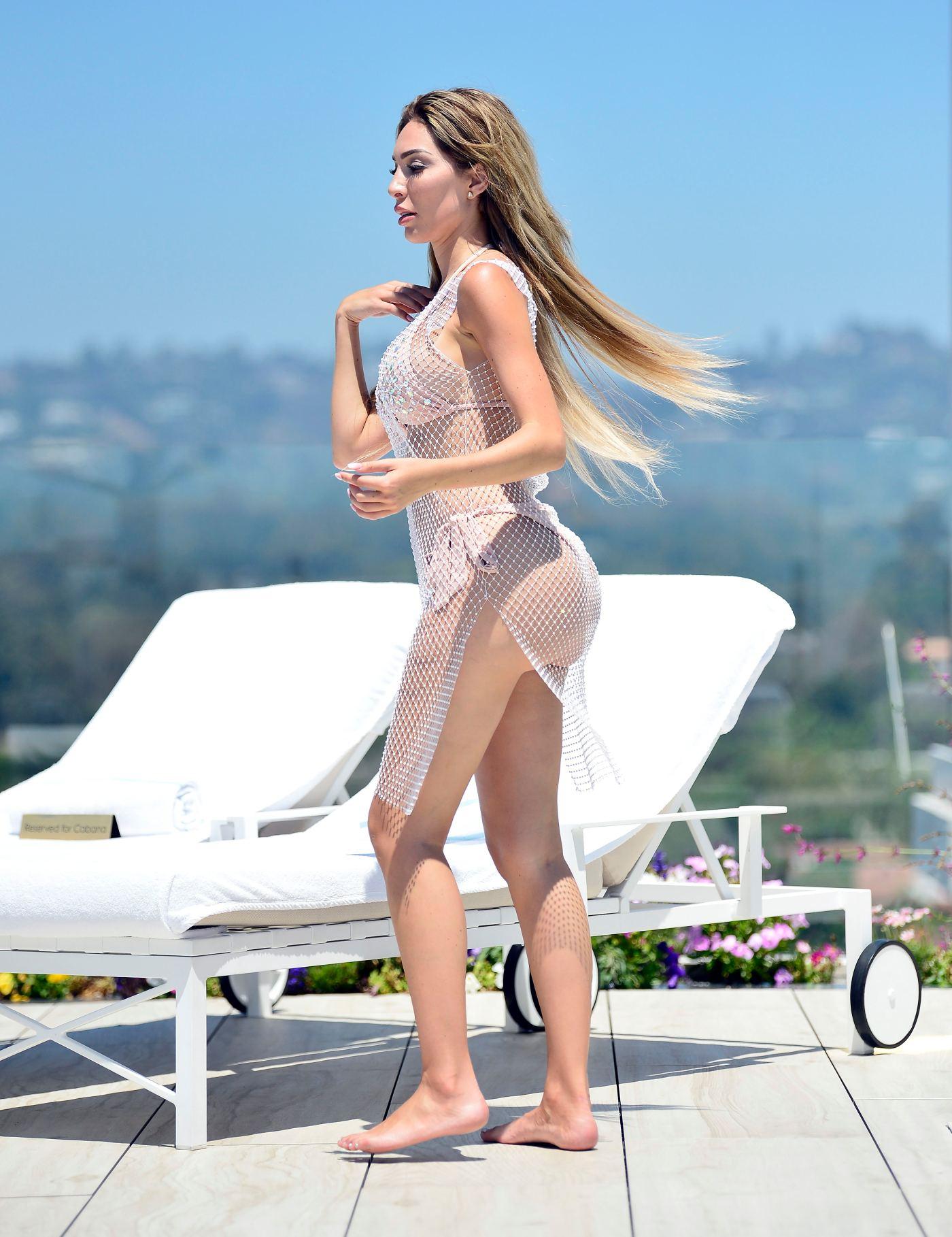 Farrah Abraham Wears Nude Bikini at the Pool During Heat Wave