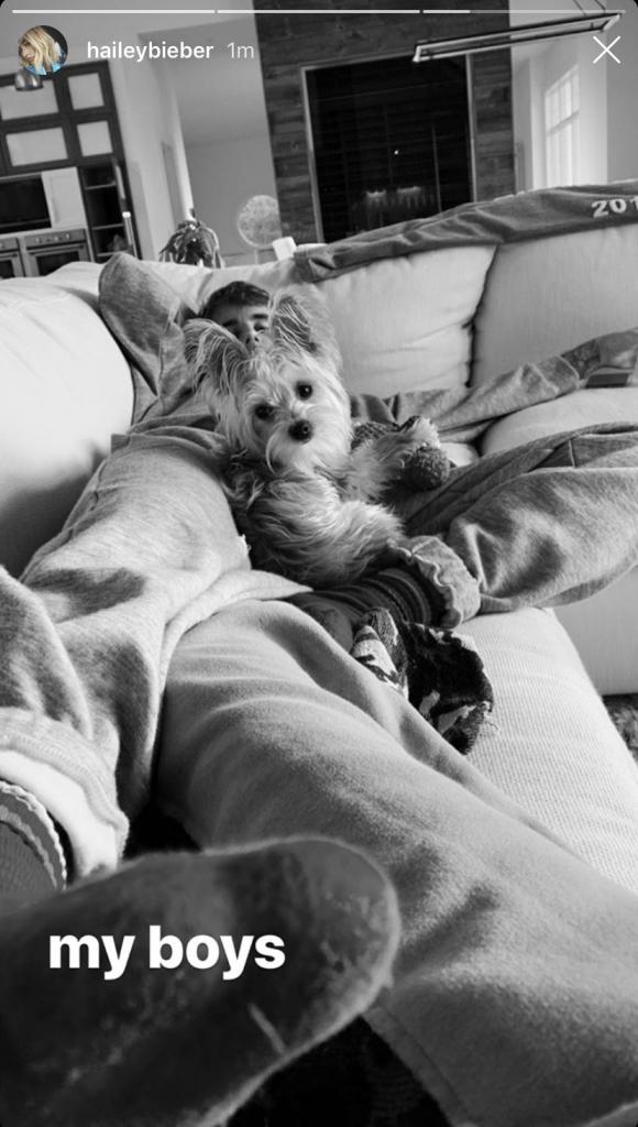 Justin Bieber and Dog