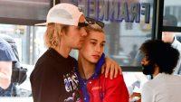 Justin Bieber Hugs Hailey Baldwin