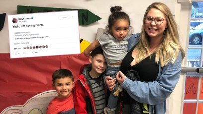 Kailyn Lowry with her children.