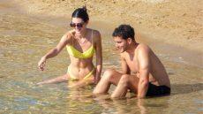 Kendall Jenner and Fai Khadra on the Beach