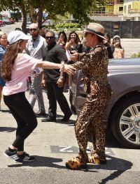 Kris Jenner and a Fan