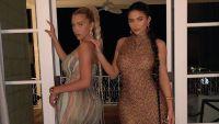 Kylie Jenner and Stassie Karanikolaou long braids missoni dresses