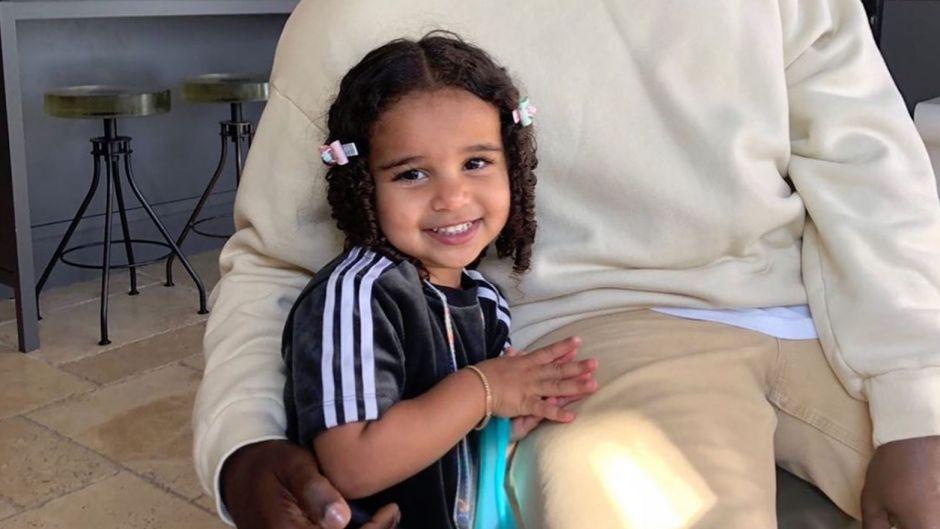 Dream Kardashian Smiling With Hair Clips