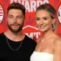 Chris Lane and Lauren Bushnell Pose Smiling with Insets of Amanda Stanton and Ben Higgins